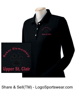 Ladies Long Sleeve Polo Design Zoom