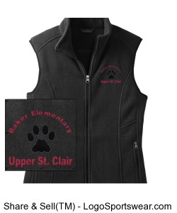Eddie Bauer Ladies Full-zip Fleece Vest Design Zoom
