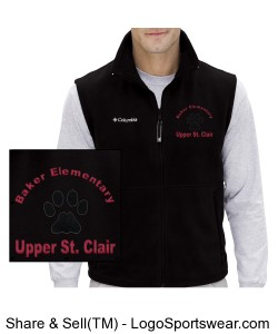 Mens Columbia Fleece Vest Design Zoom